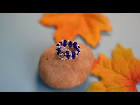 PandaHall Video Tutorial on Blue Beaded Ring with