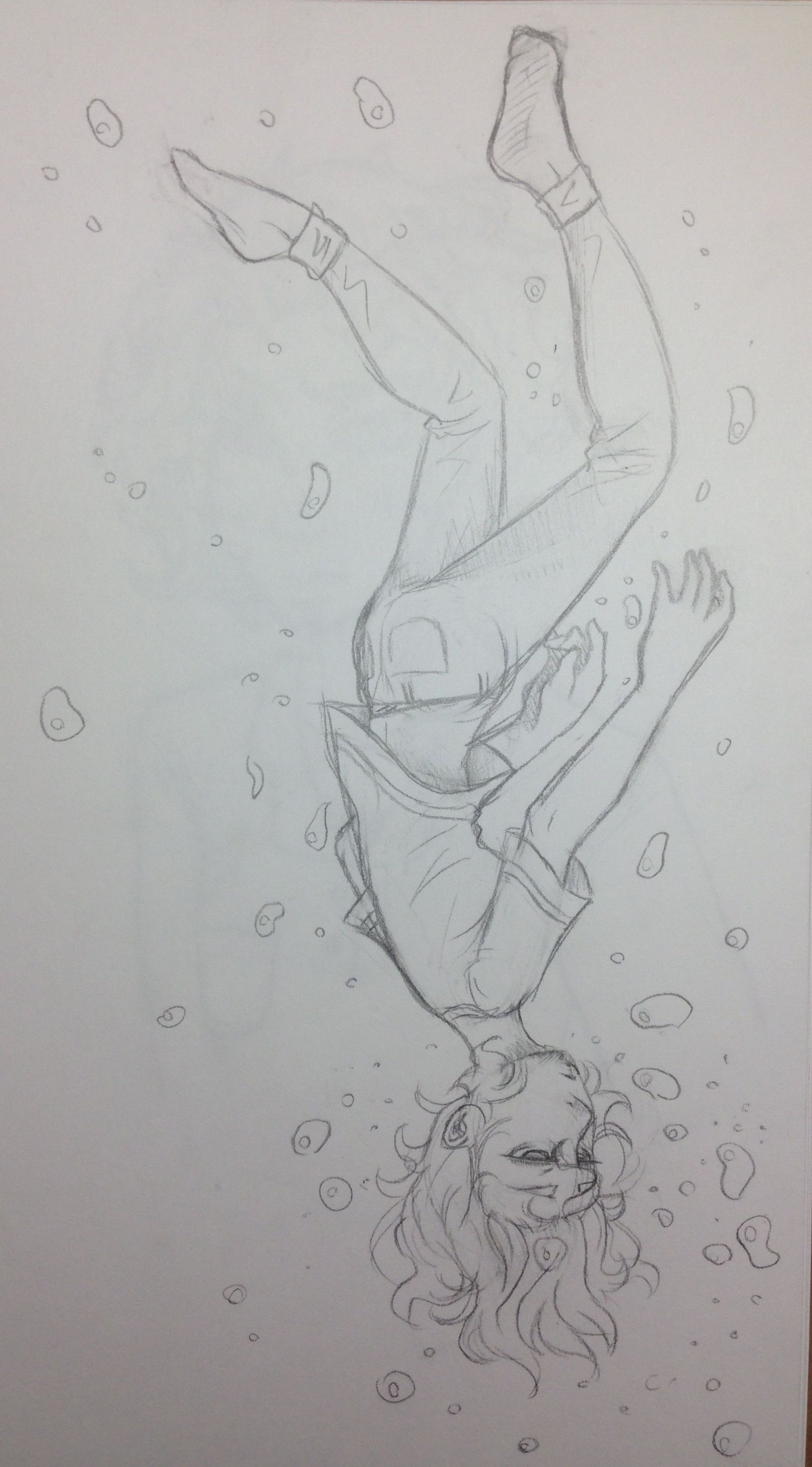 The Feeling Of Drowning Sketch With Images Drowning Art Art