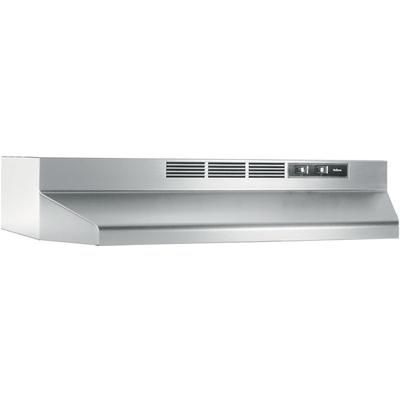 Nutone 30 Inch 180 Cfm Convertible Under Cabinet Range Hood In Stainless Steel The Home Depot Canada Stainless Steel Range Non Vented Range Hood Range Hood