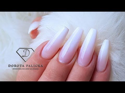 How to do Babyboomer nails. Gel babyboomer ombre tutorial by Dorota Palicka. Babyboom