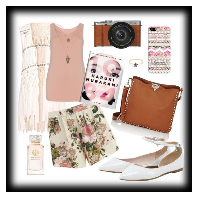 """""""Ready For a Trip ❤"""" by misplacedperfection ❤ liked on Polyvore featuring Hot Anatomy, VILA, Tory Burch, Valentino, Fujifilm, Casetify and Nook"""