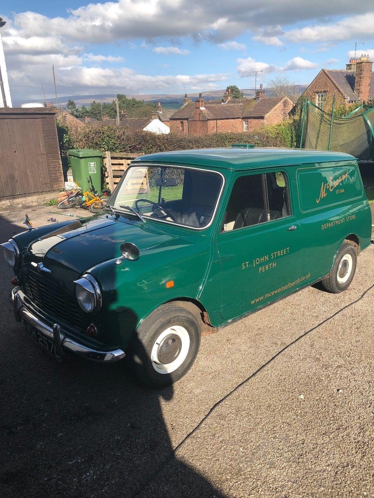 Ebay 1965 Morris Mini Van In Green With Great History Classicmini Mini Mini Van Mini Morris Van
