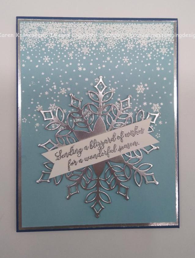Stampin Up Schnee Glitzert Weihnachtskarte Sneak Peek