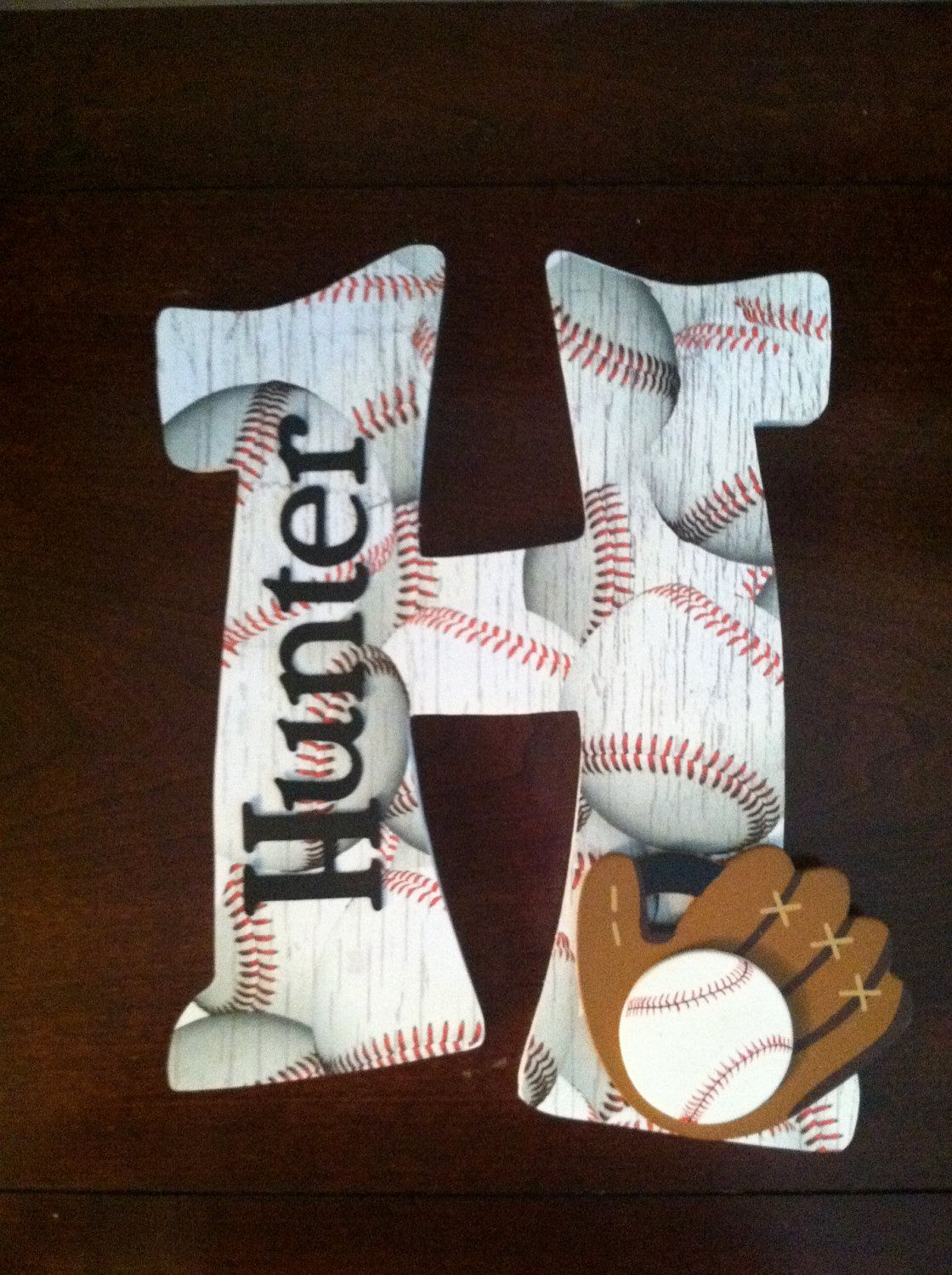 Personalized Wood Sports Letter - Home Decor for Young ...