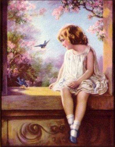 Zula Kenyon 1873 1947 American Vintage Poster Art Childrens Art Vintage Art