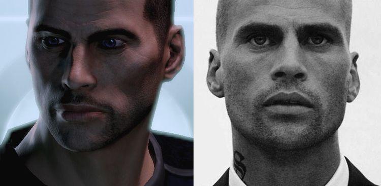Mass Effect Face Model Shepard Mass Effect Face Character
