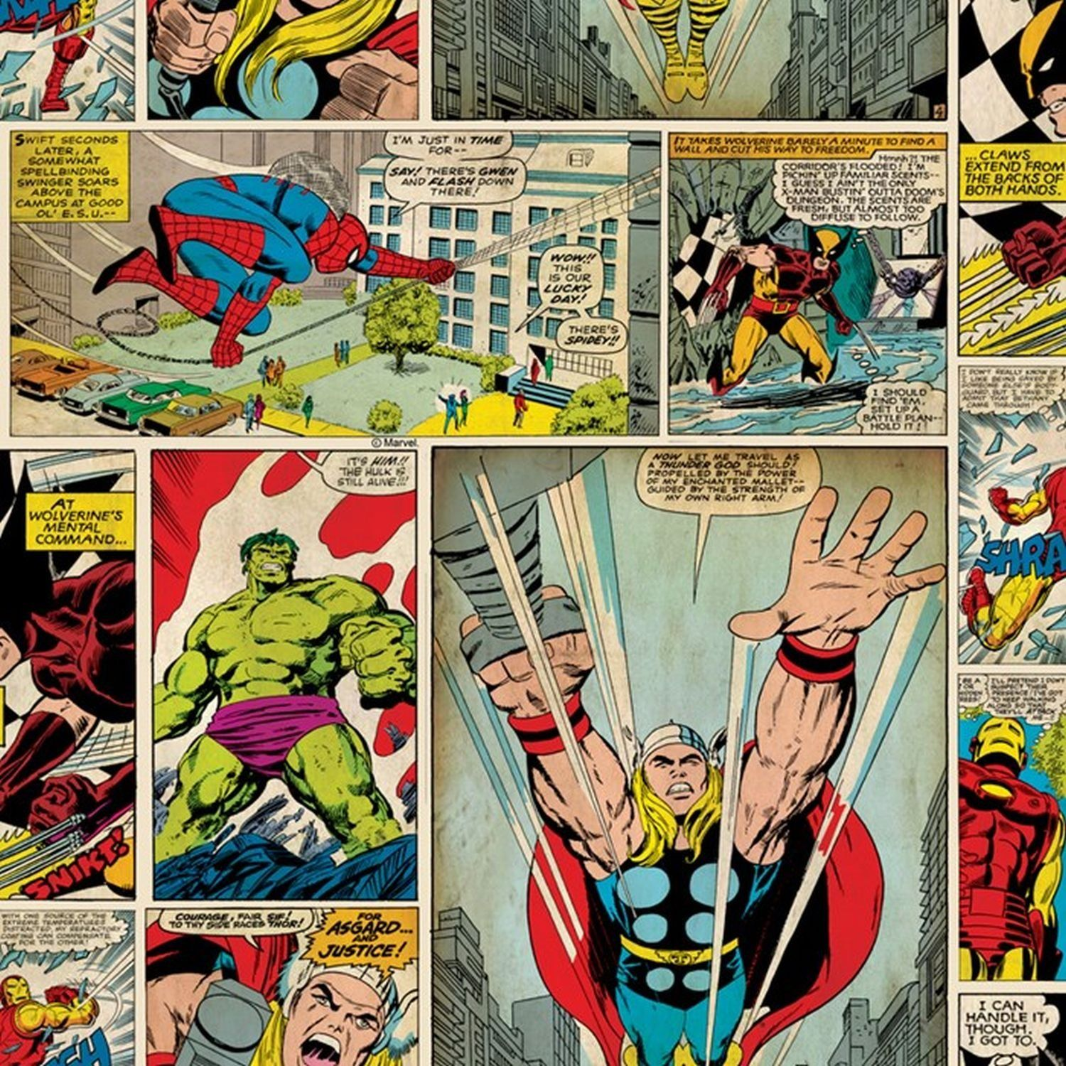 Marvel Comics Strip Wallpaper Amazoncouk Diy & Tools