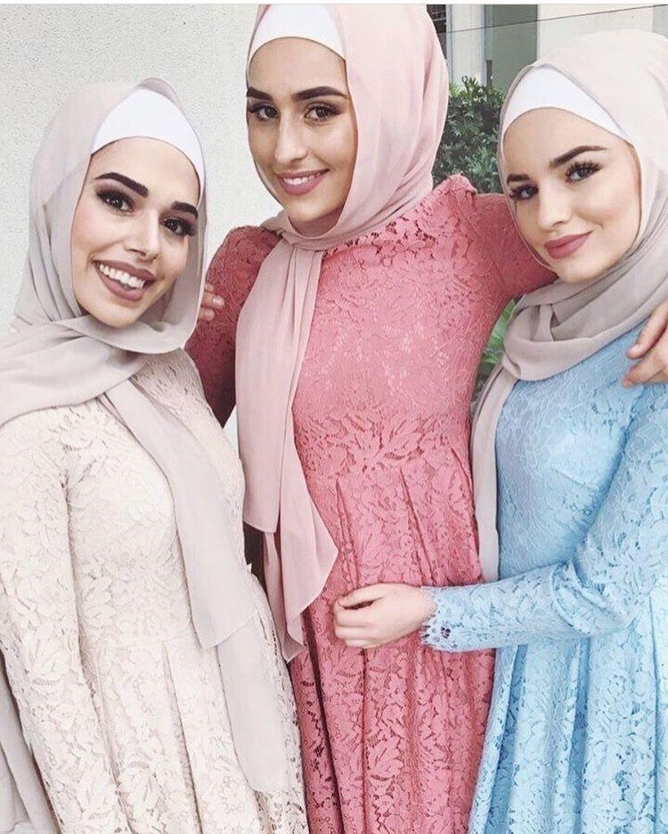 Tres bellas con hiyab. | BELLEZAS CON HIYAB | Pinterest | Me gustas ...