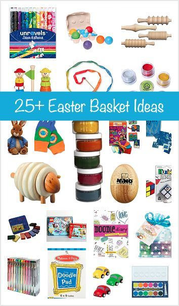 Over 25 easter basket ideas for kids easter baskets basket over 25 easter basket gift ideas for kids little basket stuffers perfect for easter negle Images