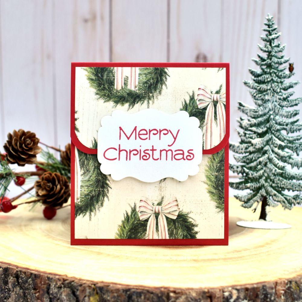 Merry Christmas Gift Card Holders - Christmas Gift Card Sleeves ...