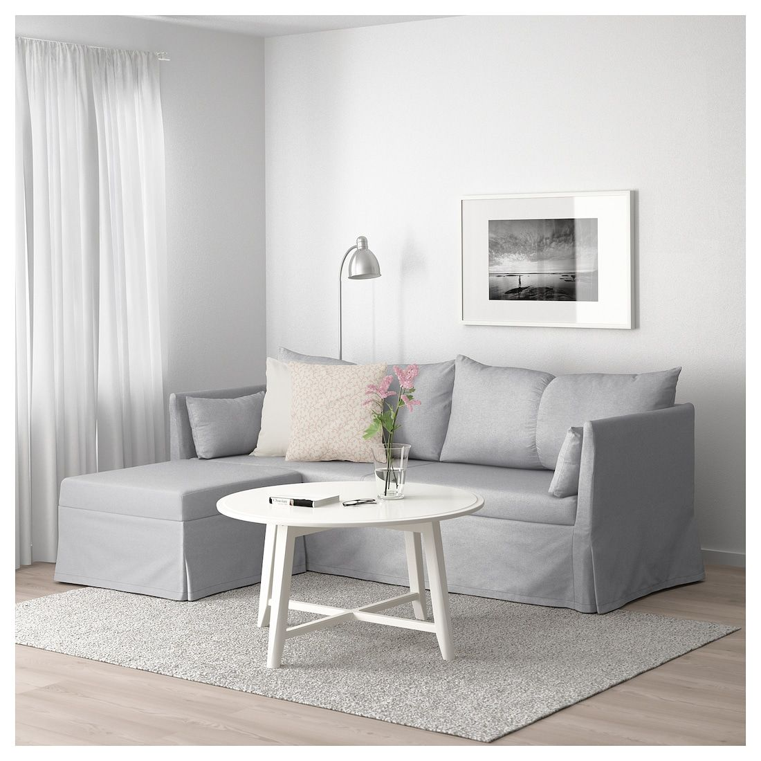 sandbacken sectional 3 seat corner frillestad light gray in 2019 rh pinterest com