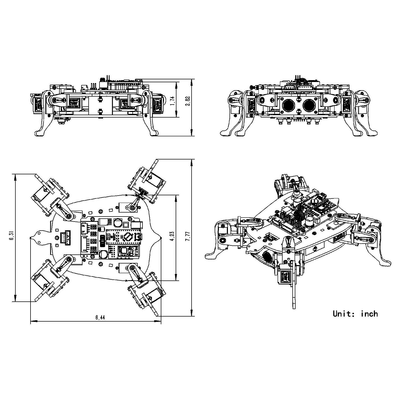 Pin by SunFounder on SunFounder Rollflash Bionic Robot Kit