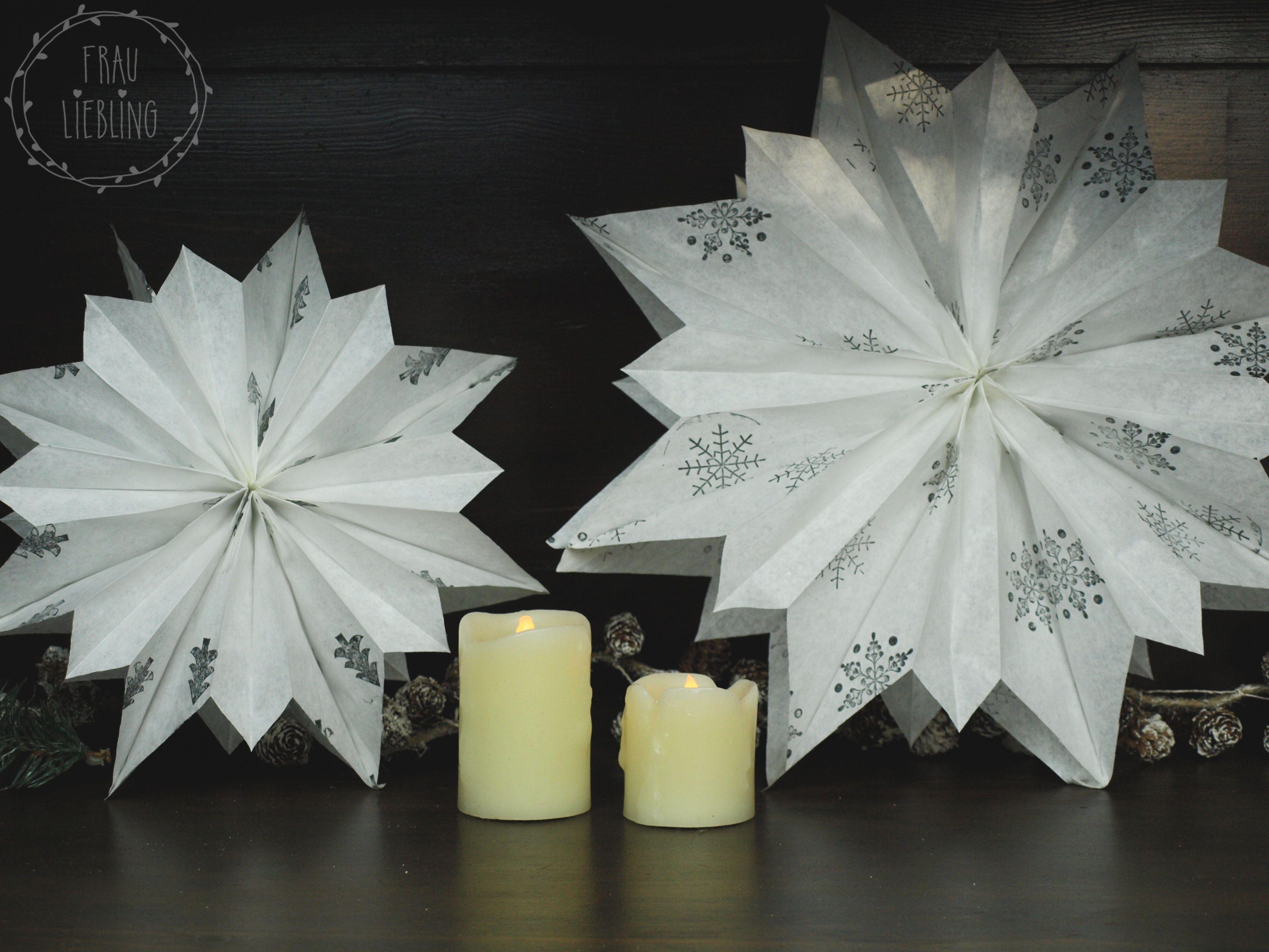 diy weihnachtsstern aus papiertten - Diy Weihnachtsdeko Blog