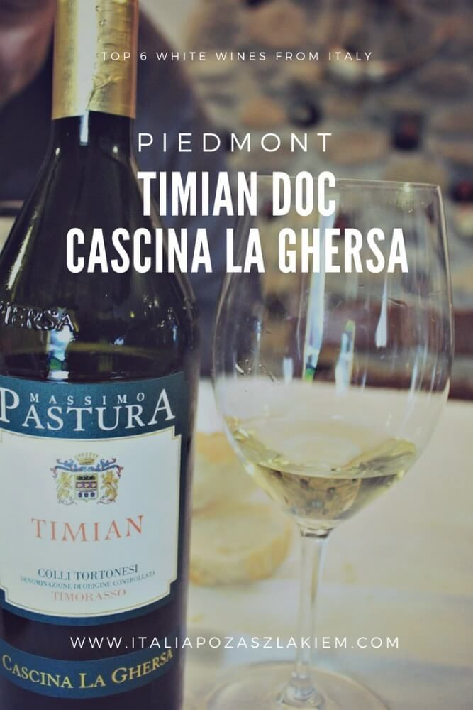 TOP 6 white wines from Italy. Timian DOC, Cascina La Ghersa, Moasca, Piedmont.