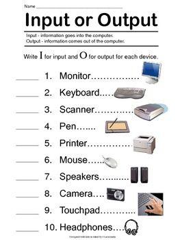 Input - Output Computer Devices | Computer basics, Computer ...