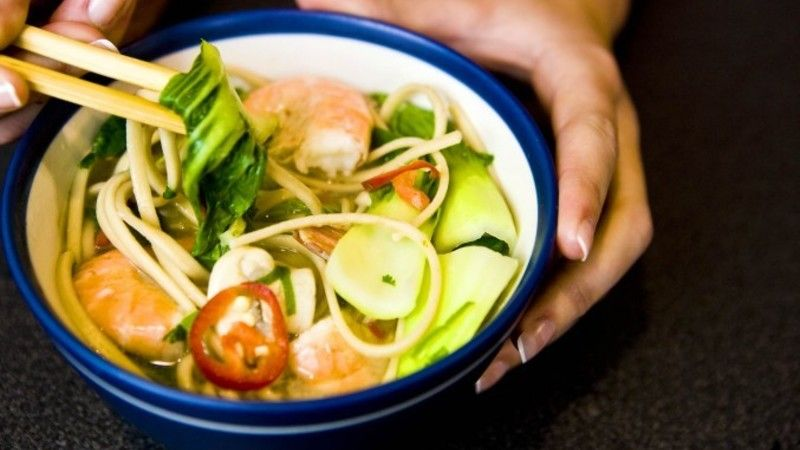 Have you ever wondered whether you could re-create a pot noodle, but actually make it taste edible? This version tastes so amazingly fresh and vibrant, plus the bowl of authentic Thai flavours is virtually fat-free too!