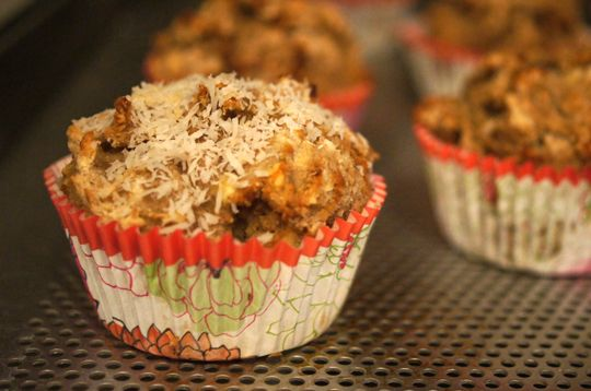 SCD Banana Coconut Muffins (*Use honey for sweetener & omit stevia...)