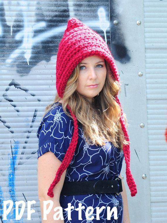 Womens Pixie Hat Pattern Crochet Pattern By Simplymadebyerin 500