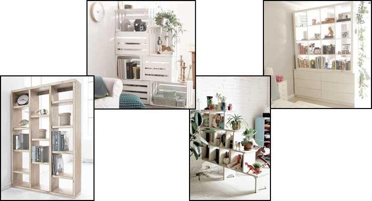 Separar ambientes con muebles separadores de ambientes space dividers muebles separar y - Estanterias separadoras de ambientes ...