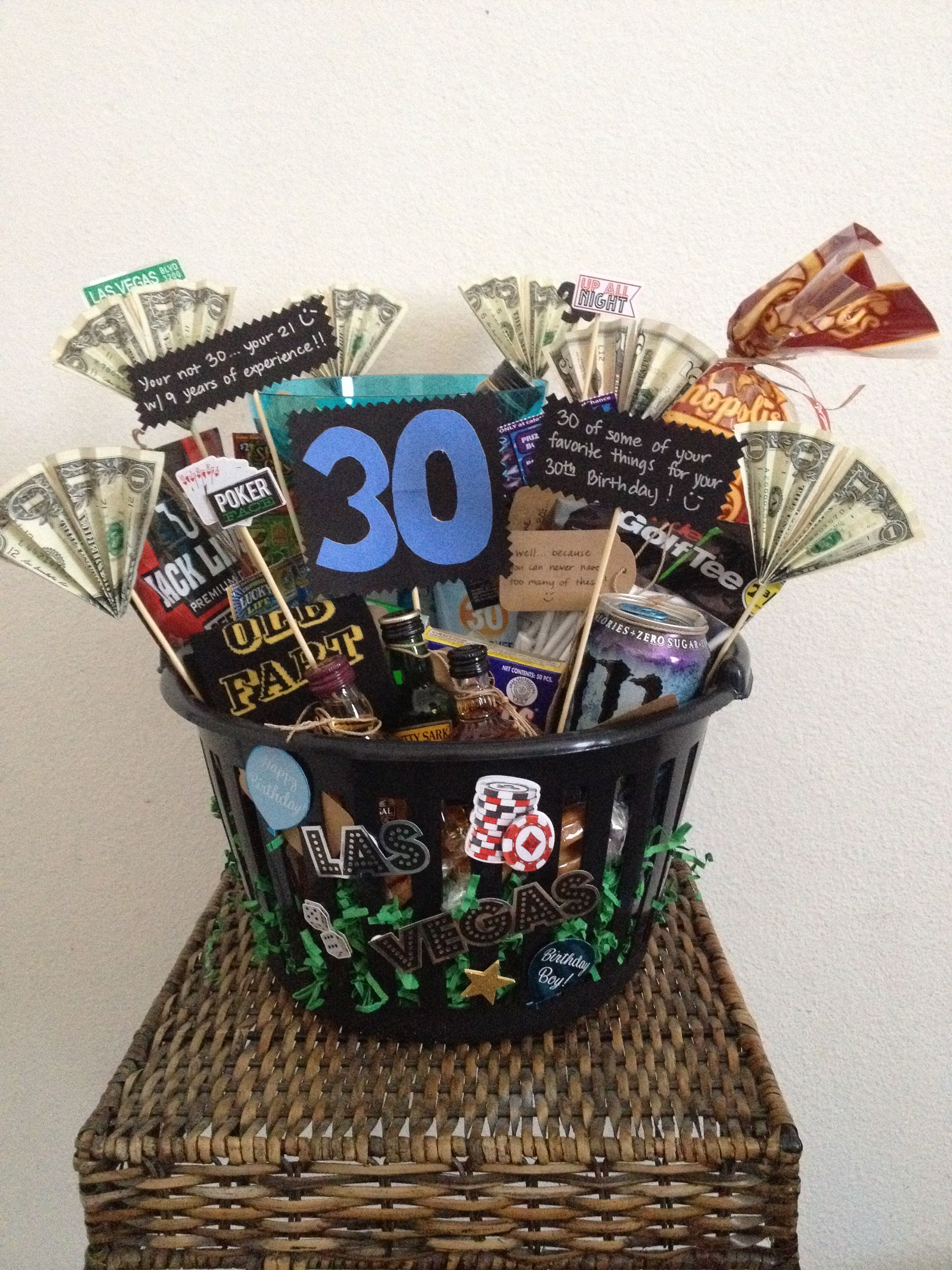 30th Birthday Basket For A Man. Made This For My Husband