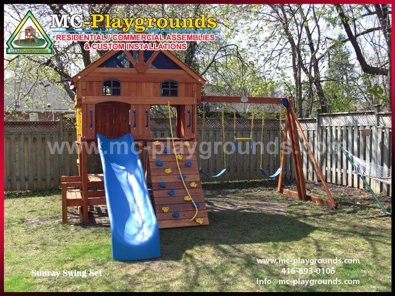 Sunray Swing Set Assembly Mc Playgrounds Playsets Assemblies