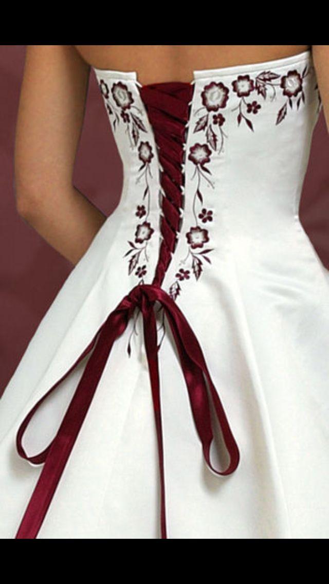 Alyssa S Dress Back Close Up Red Wedding Dresses Wedding