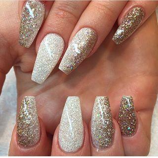 new year nails …  nail designs glitter coffin nails long