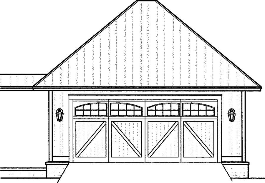 This detached two car garage plan is 528 sq feet. Along