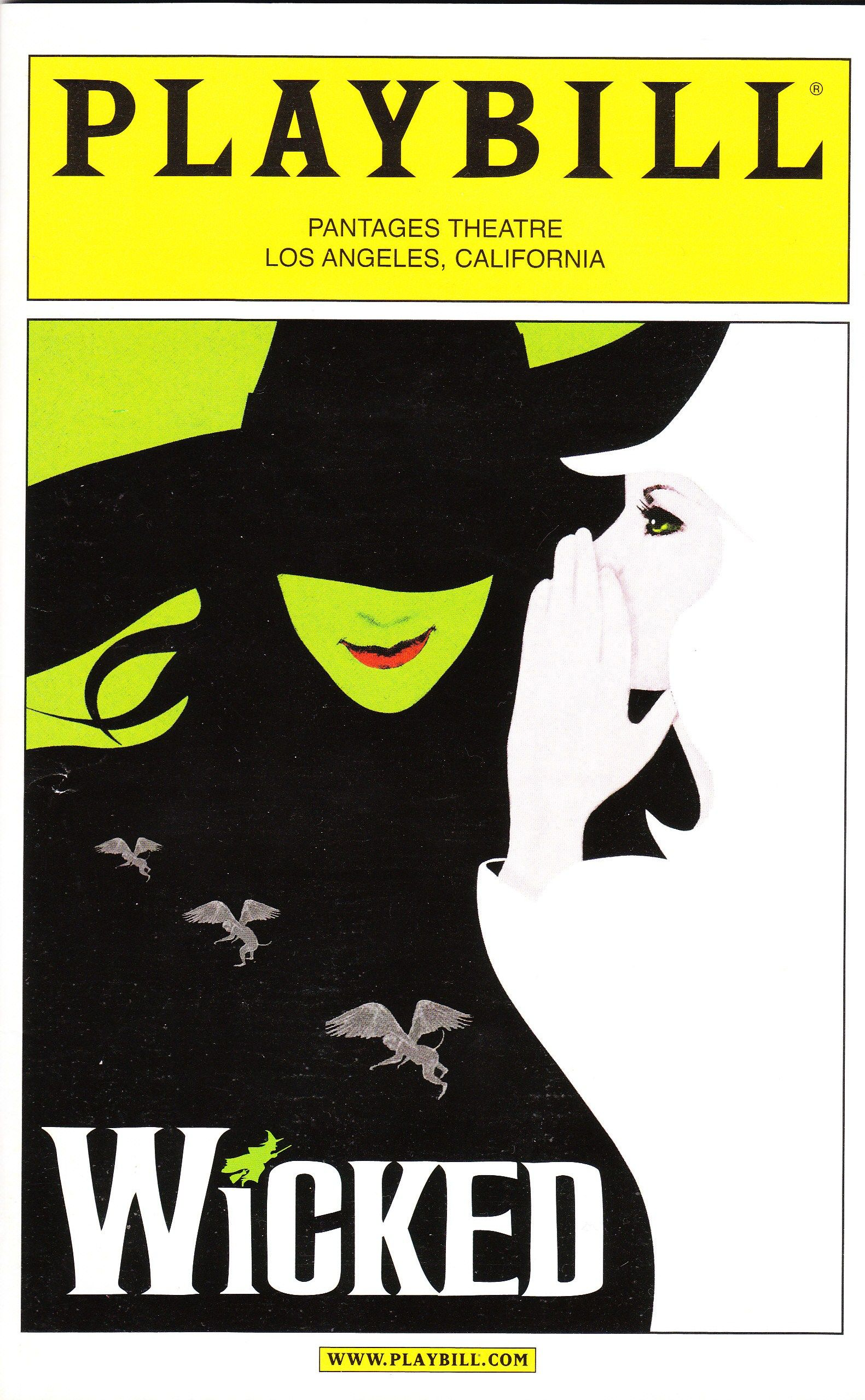 Wicked playbill all the world 39 s a stage pinterest for The broadway