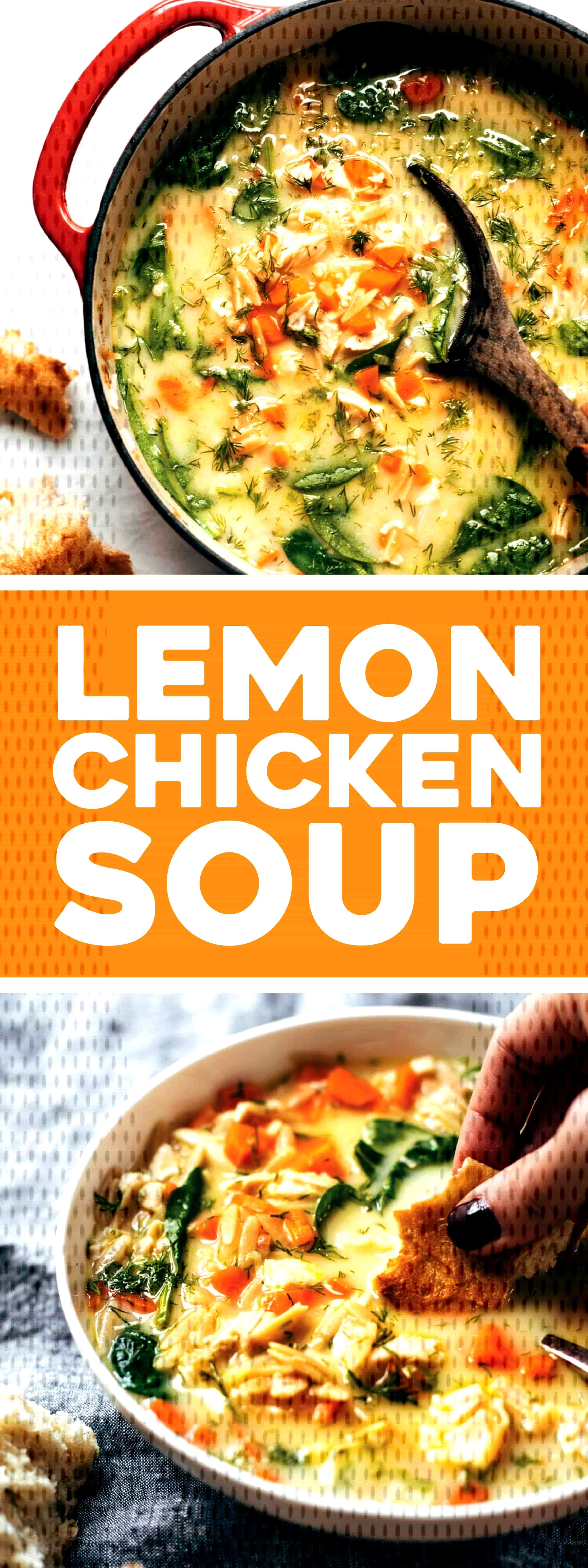 Filling, fresh, and vibrant lemony chicken soup made creamy with NO CREAM and a secret ingredient!