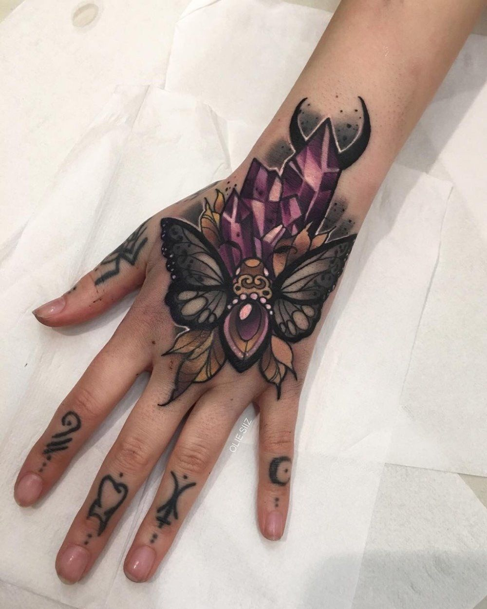 covering up hand tattoos for work