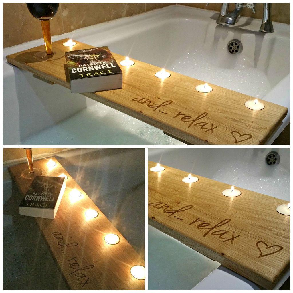 Oak Bath Caddy … | Pinteres…