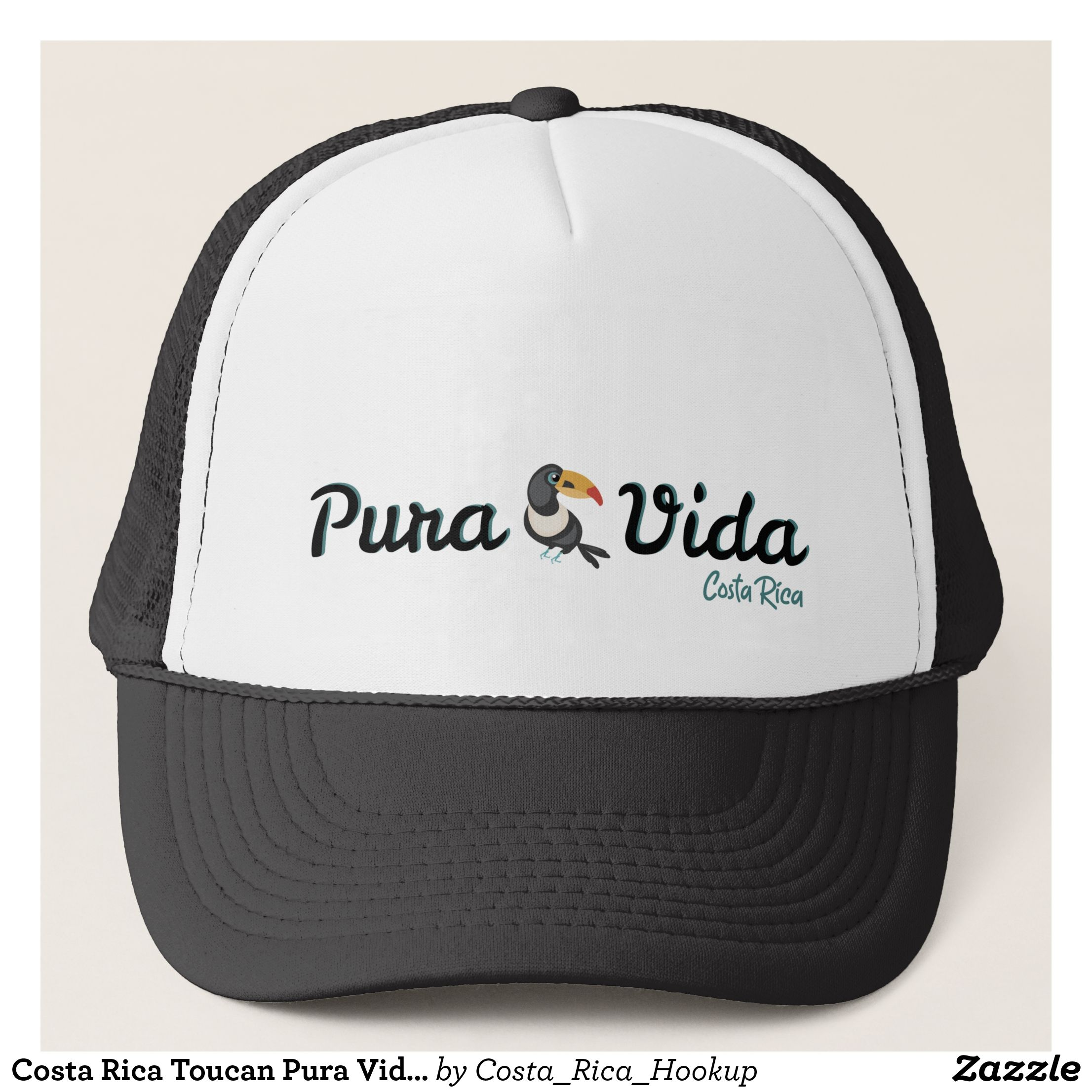 c29a95b2 Costa Rica Toucan Pura Vida Logo Souvenir Trucker Hat - Urban Hunter Fisher  Farmer Redneck Hats By Talented Fashion And Graphic Designers - #hats ...