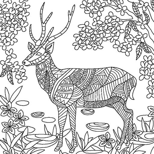 Most Of People Have A Hobby On Drawing And Coloring Even Kids Love To Color In Deer Mandala Pages Are The Smart Ideas Relieve Stress