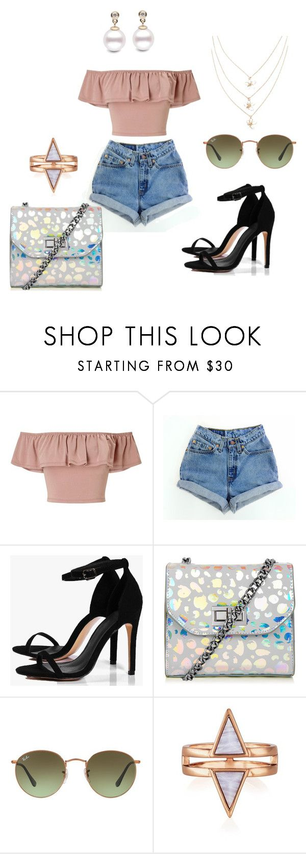 """""""simple"""" by anaily on Polyvore featuring moda, Miss Selfridge, Levi's, Boohoo, Ray-Ban e rayban"""
