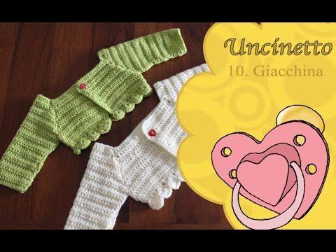 Uncinetto Bimbi 10 Giacchina Bimba 0 3 Mesi Youtube Crochet