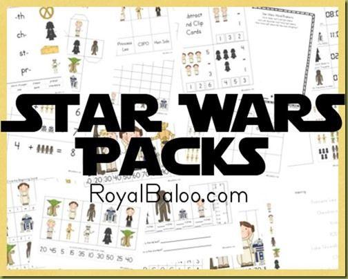 Star Wars Free Printable Packs Royal Baloo Star Wars Classroom Free Homeschool Printables Star Wars Printables Free