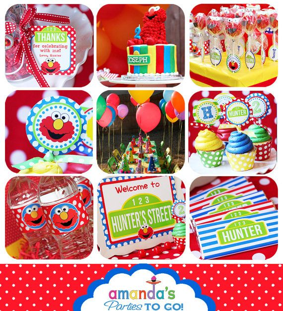 Elmo Birthday Decorations Elmo Party Banner Sesame Street Party