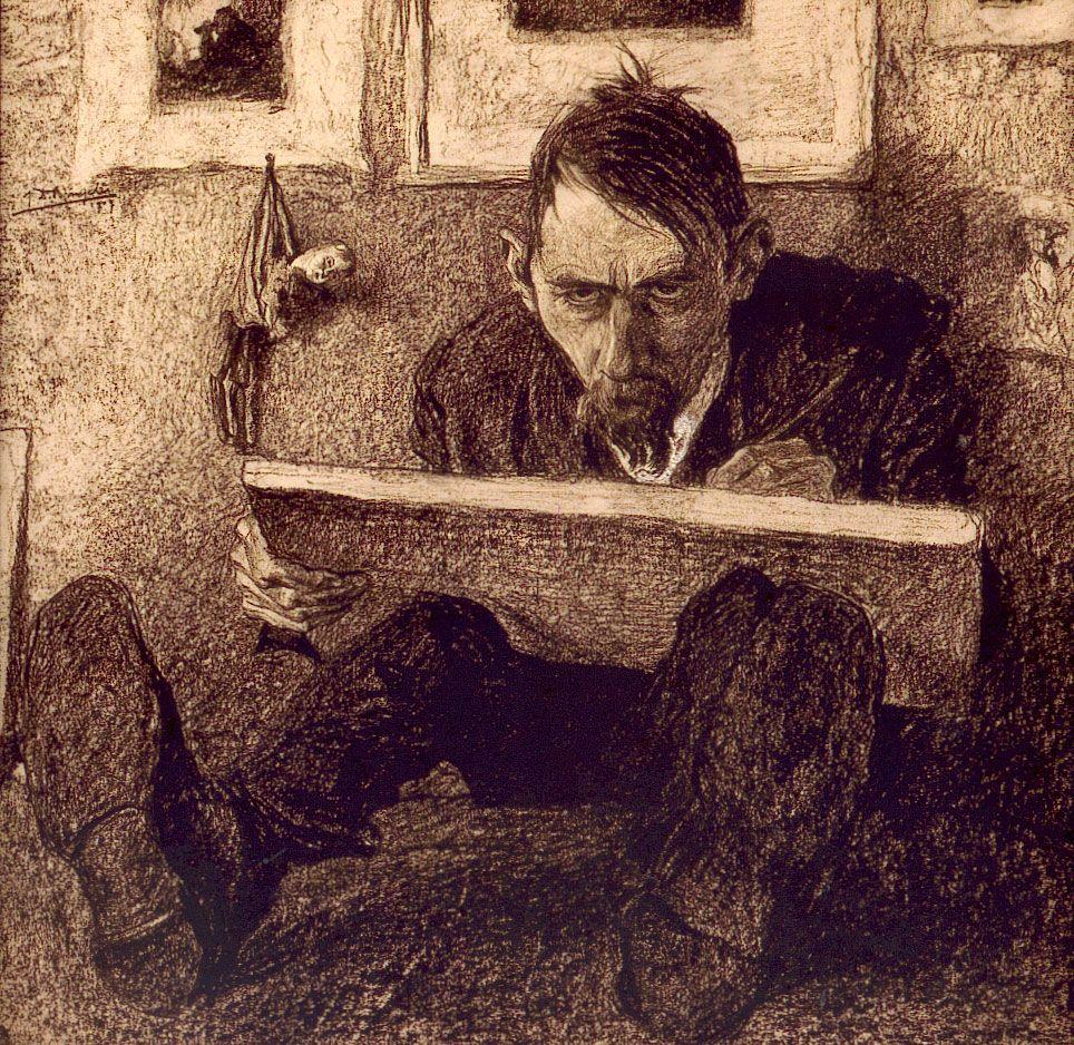 Zelfportret by Jules de Bruycker (1870 – 1945, Belgian)