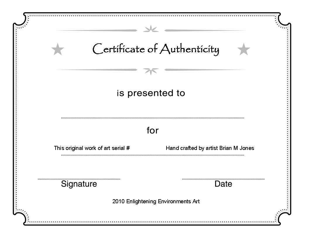 Certificate Of Authenticity Template Good Modern Abstract Metal Wall Art Painting Sculpture De Art Certificate Blank Certificate Template Certificate Templates Certificate of authenticity template free