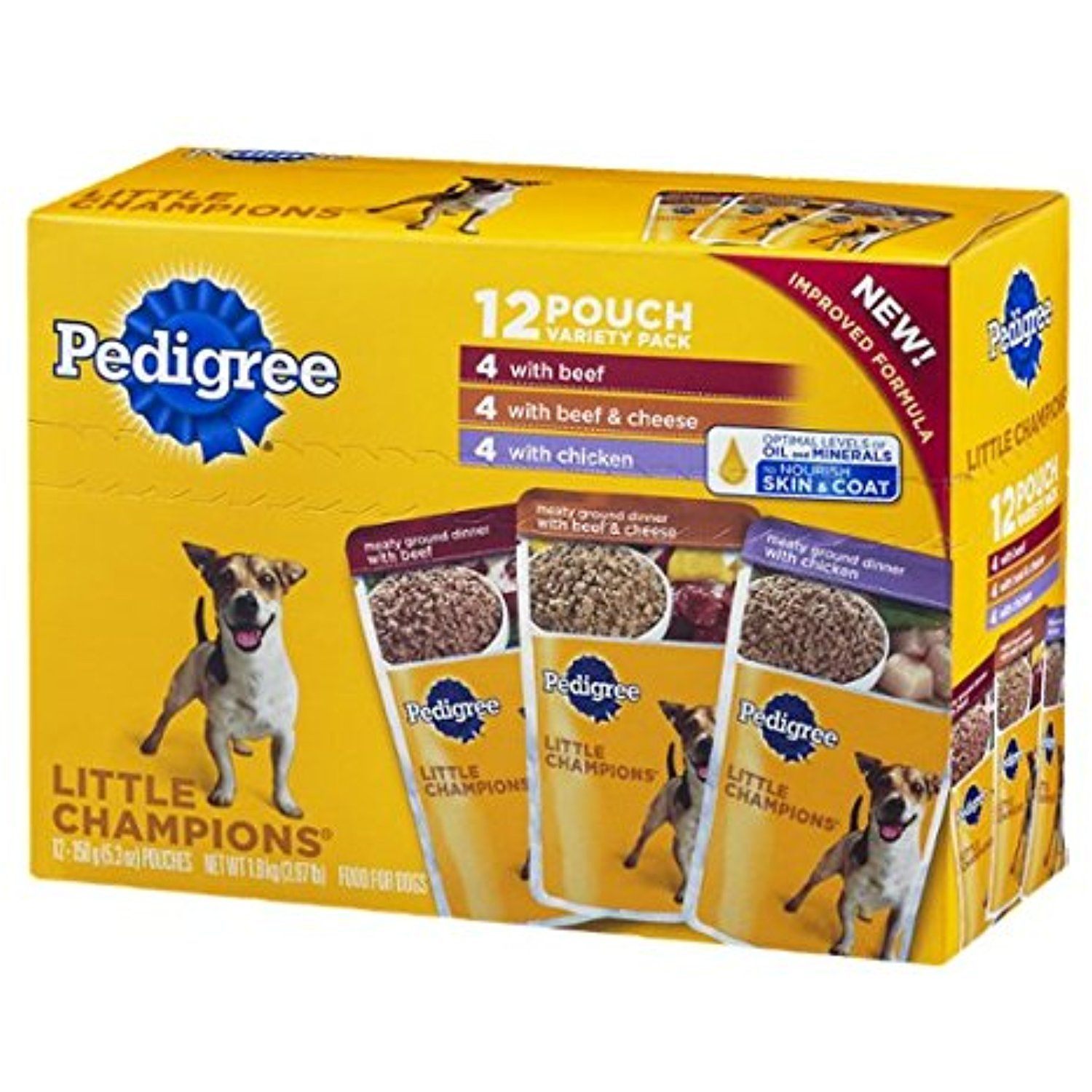 Pedigree Little Champions Food For Dogs Variety Pack 12 Ct