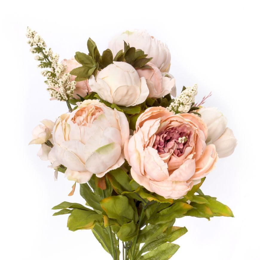 Bridesmaids 21 In Dusty Rose Silk Peonies Bunch Silk Peonies Flowers Baby Shower Flowers