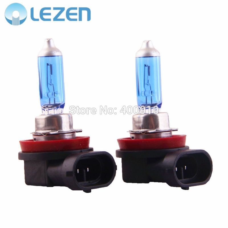 Lezen 2pcs H11 Halogen Xenon Head Lamp Fog Light Super White 12v 55w 5000k 6000k For Car Auto Low Beam Autos Nebel Weiss