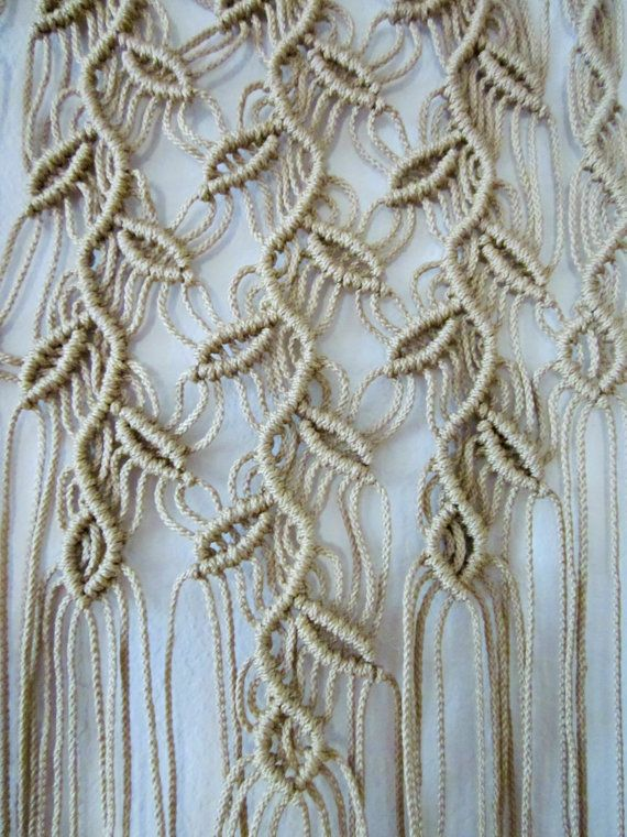Macrame Wall Hanging Three Sprigs Handmade Macrame Decor