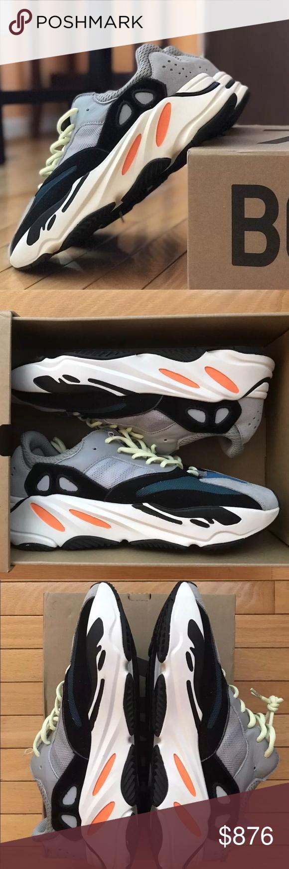 Adidas yeezy spinta 700 cavalcatori di onde numero 11 nuovi in scatola non e 'mai indossato