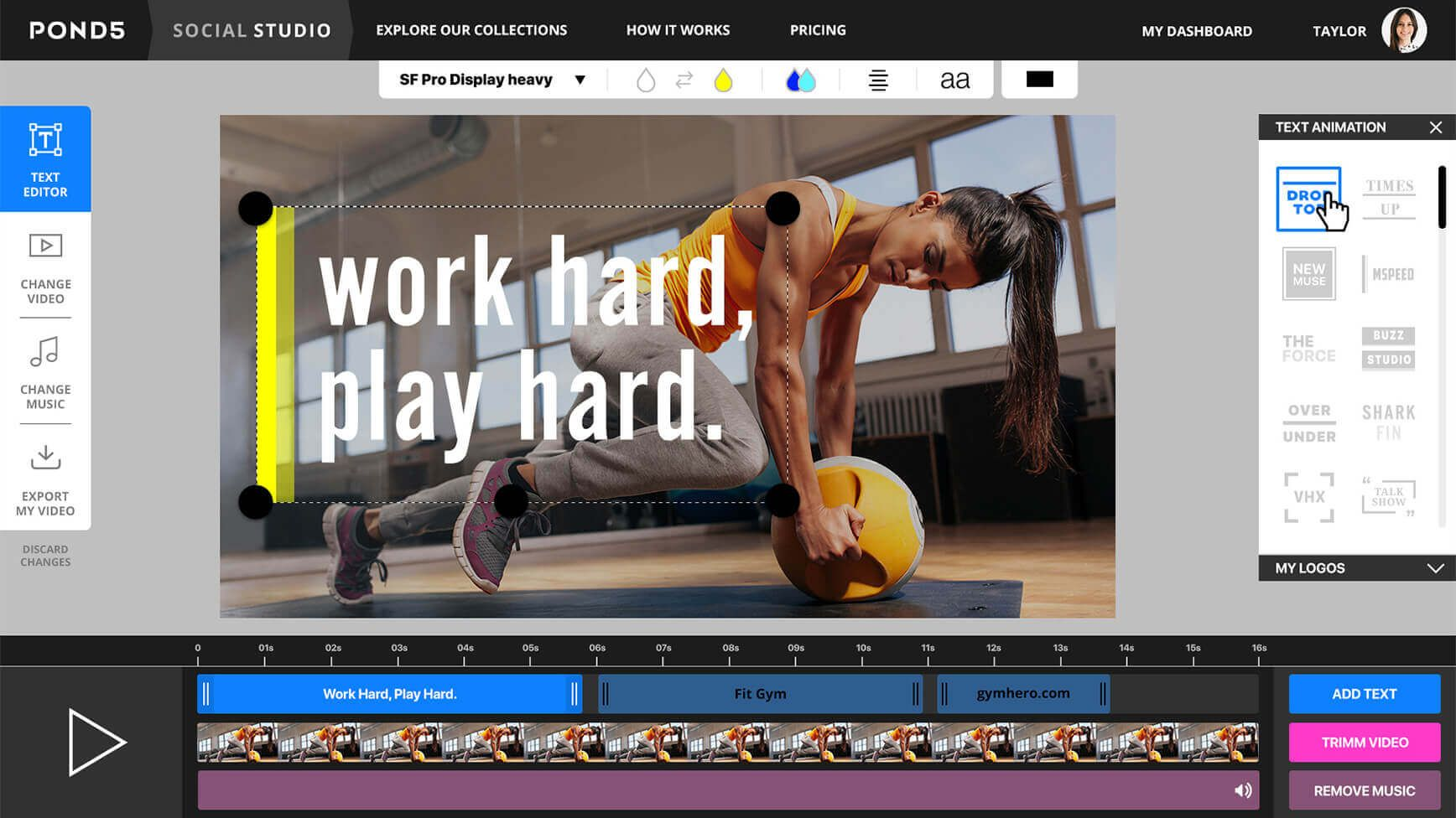 Free Video Editor Make Ads For Facebook Instagram Social Studio Free Stock Video Music Library Video Editor