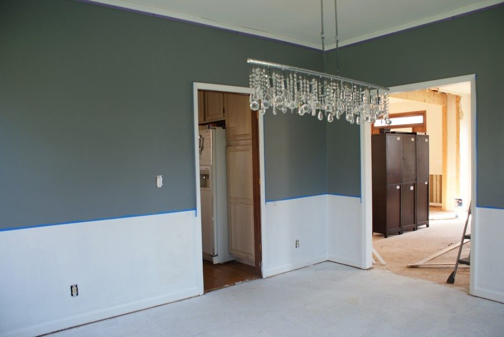 living room color schemes with chair rail  google search