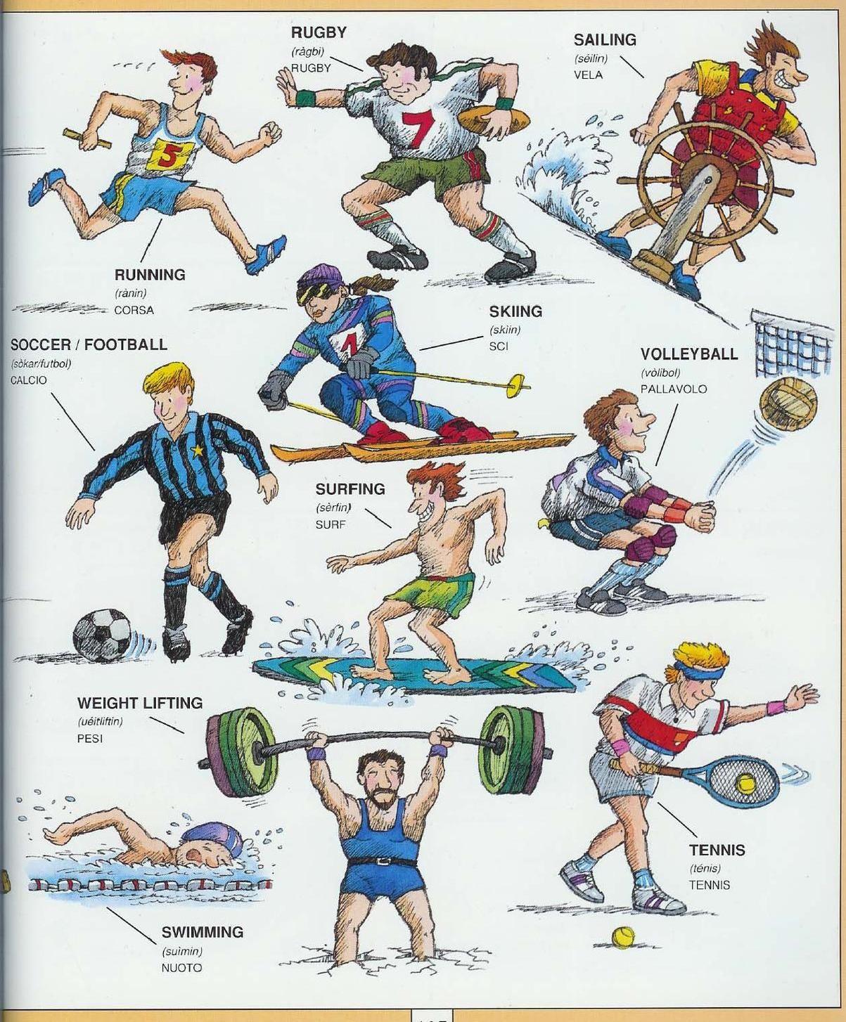 Learning Italian Language Sports