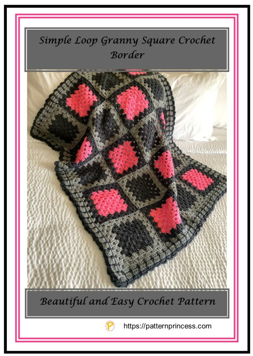 Simple Loop Granny Square Crochet Border  This simple loop granny square crochet border is just one way to beautifully finish off a blanket There is just something addict...