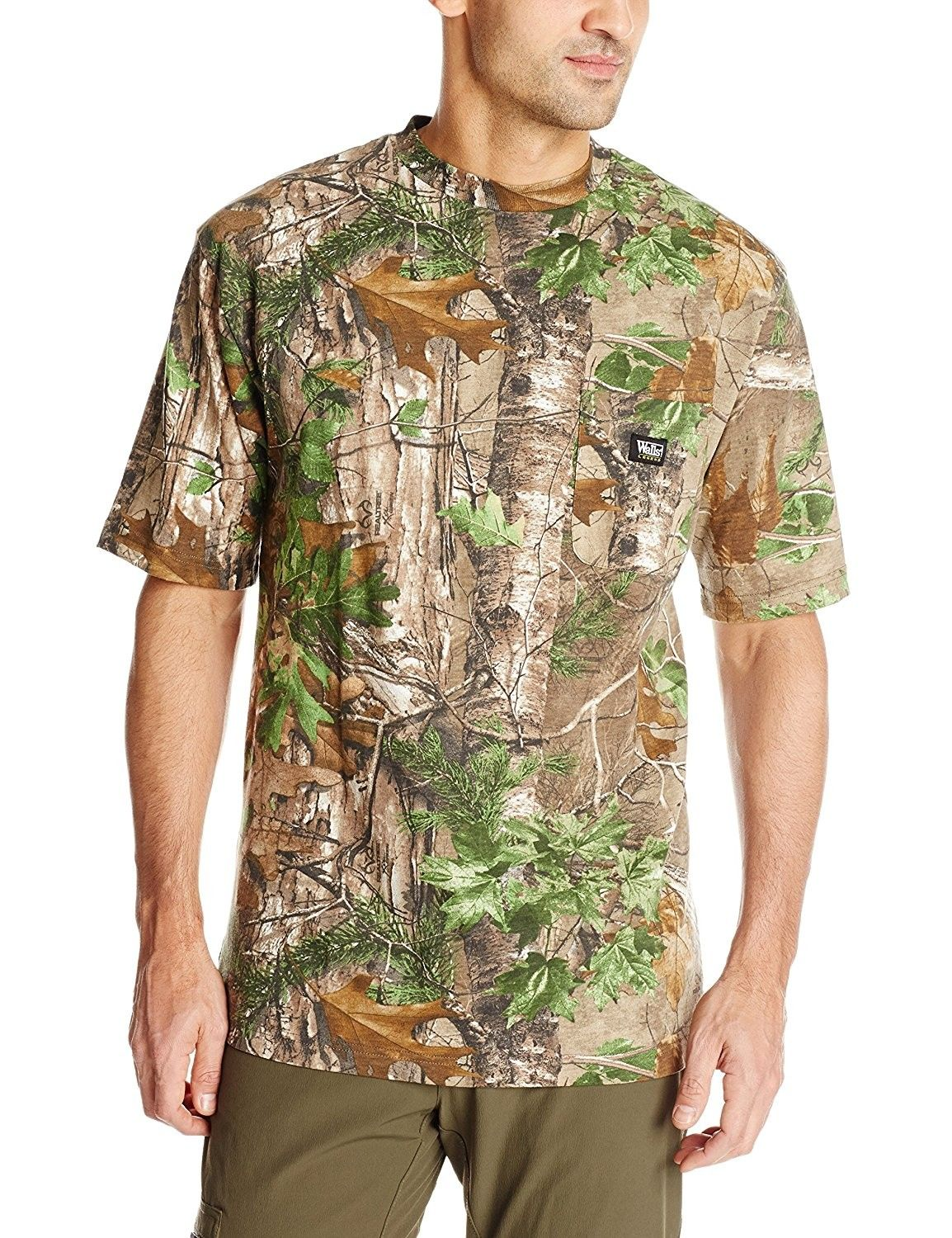 men s short sleeve camo t shirt realtree extra green on walls men s insulated hunting coveralls id=54164